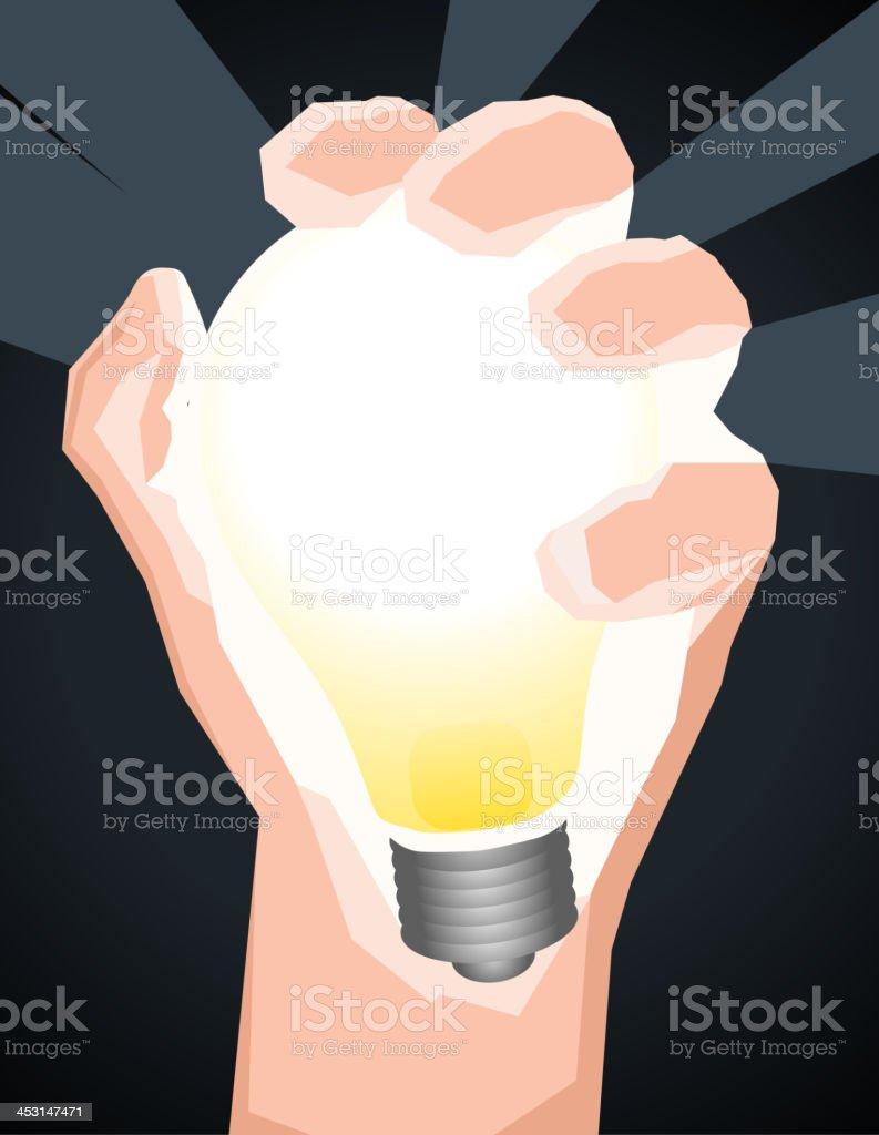 Hand Holding Light Bulb Got an Idea royalty-free stock vector art