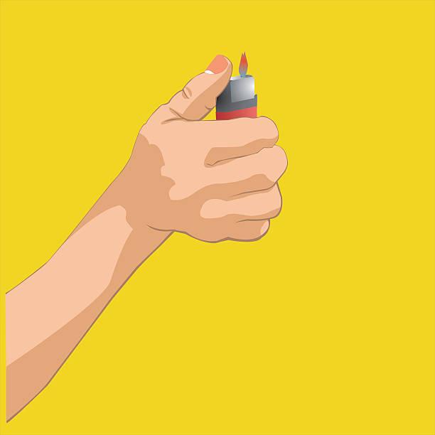 hand hält leichtere - feuerzeuggas stock-grafiken, -clipart, -cartoons und -symbole