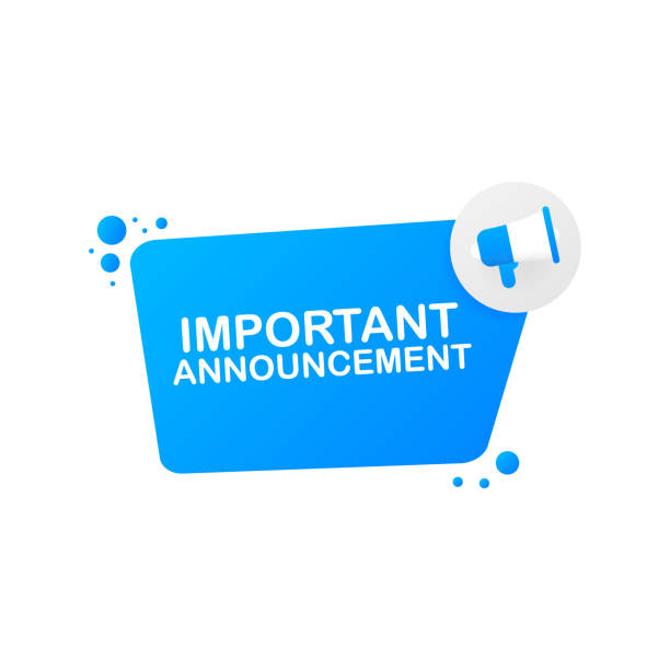hand holding megaphone - important announcement. vector illustration. - rich stock illustrations