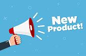 istock Hand holding megaphone - New product 1191778759