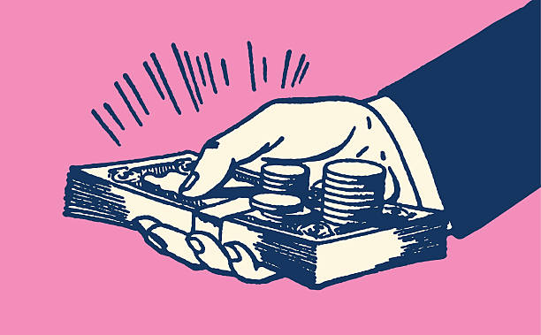 Hand Holding Money http://csaimages.com/images/istockprofile/csa_vector_dsp.jpg wages stock illustrations