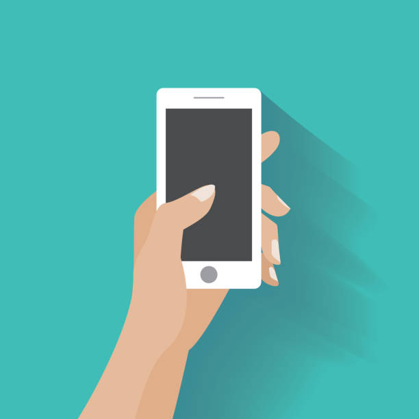 Royalty Free Hand Holding Phone Clip Art, Vector Images ...