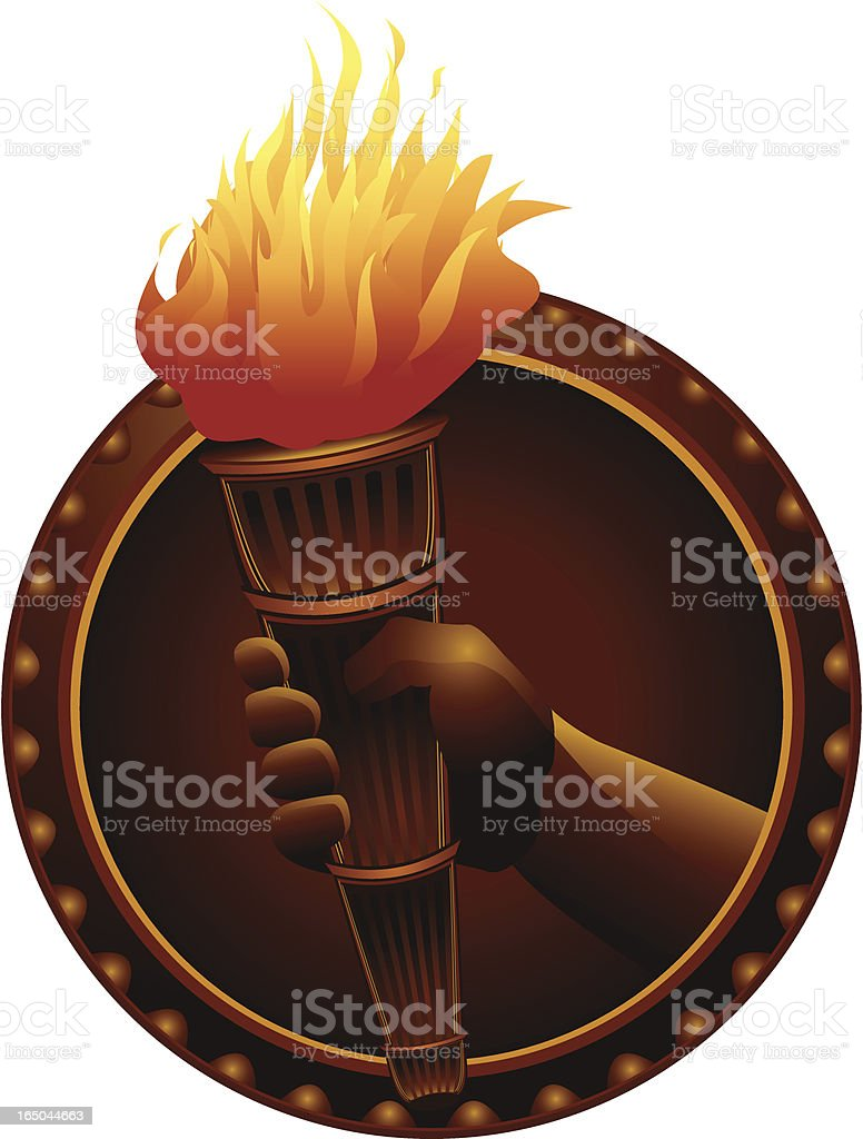 Hand Holding Torch royalty-free stock vector art