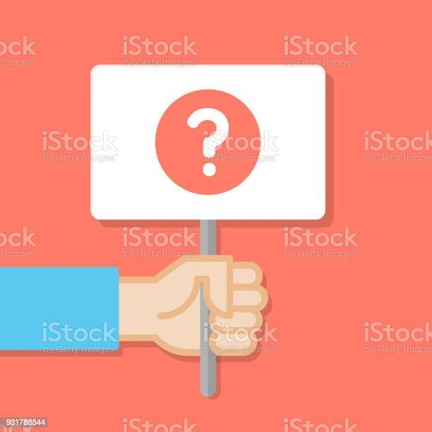 Hand holding white board banner with minimal icon query symbol of vector id931788544?b=1&k=6&m=931788544&s=612x612&h=ppjw8jtknn4lsiay2eu0hf0iquw egua1ymfoode cm=