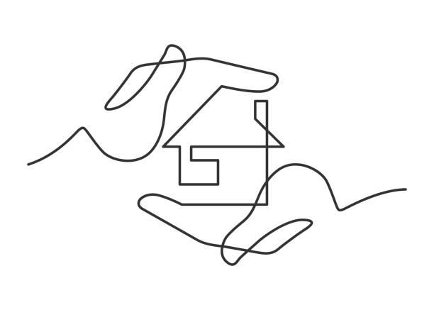 手回家一行 - 建築插圖 幅插畫檔、美工圖案、卡通及圖標