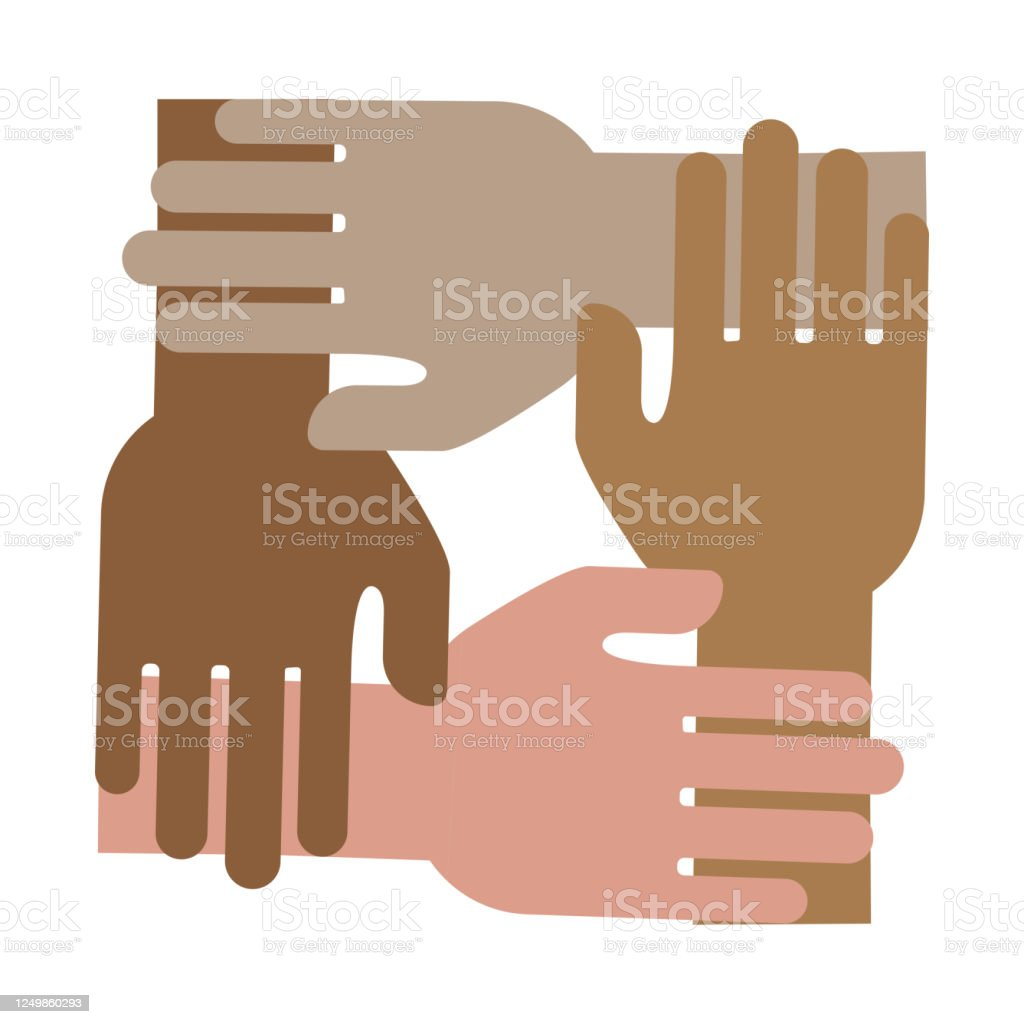 Hand Icon As A Symbol Of Teamwork Flat Image Of Unity And Cooperation A Spirit Of Cooperation And Help Leading To Success Stock Photo Stock Illustration Download Image Now Istock