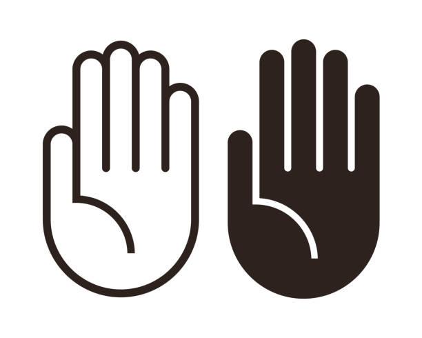 Hand icon set Hand icon set isolated on white background hand stock illustrations