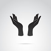Vector icon of human hand.