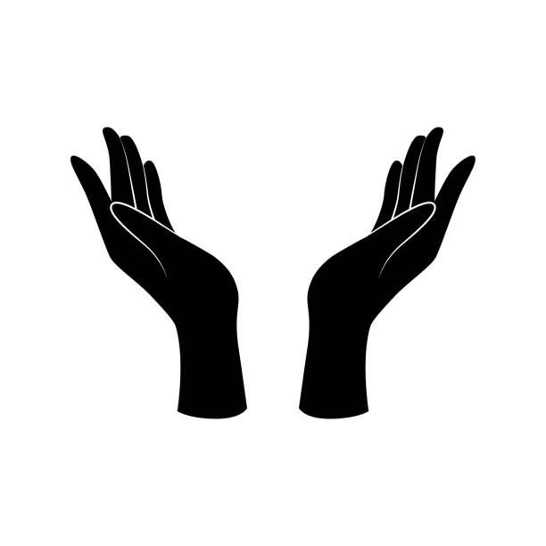 Royalty Free Two Hands Held Open Clip Art, Vector Images ...