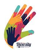 Diversity icon design, vector illustration eps10 graphic