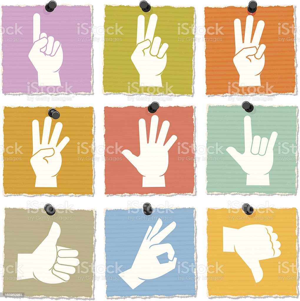 Hand Icons royalty-free hand icons stock vector art & more images of color image