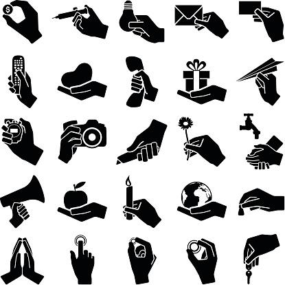 Hand icons
