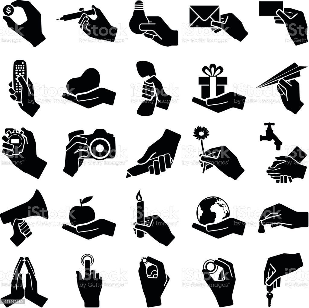 Hand Symbole – Vektorgrafik