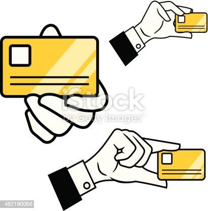 Hand hold id card
