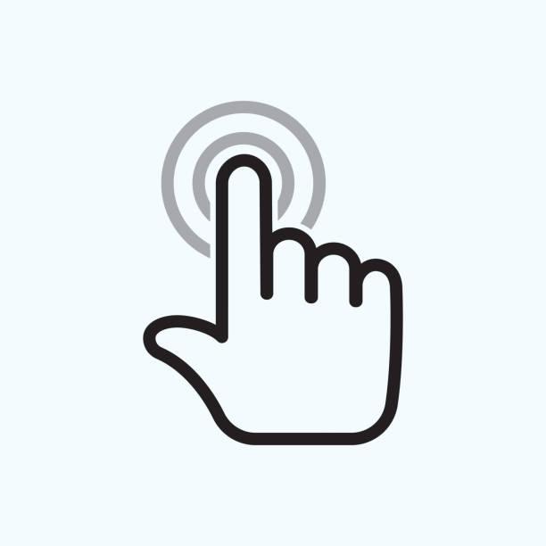 ilustraciones, imágenes clip art, dibujos animados e iconos de stock de mano tocar es - física
