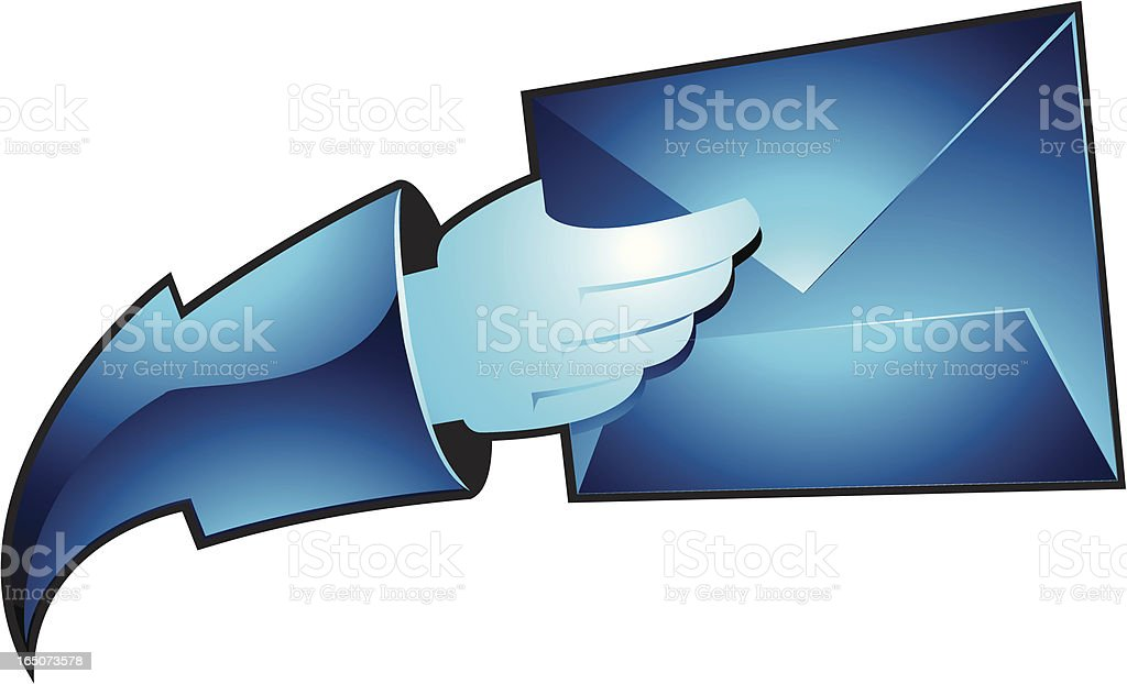 hand it mail royalty-free stock vector art