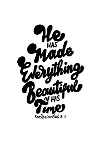 Hand Lettered Bible Quote. Positive Vibe