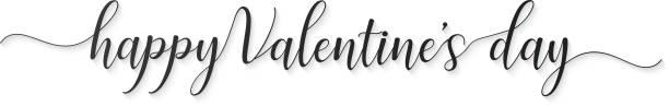 HAPPY VALENTINE'S DAY hand lettered card greeting HAPPY VALENTINE'S DAY hand lettered card greeting,illustration EPS10 nu stock illustrations