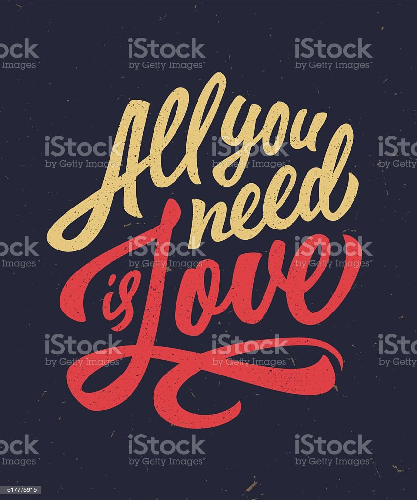 Stock Quote T Hand Lettered Love Quote Tshirt Design Stock Vector Art 517775915