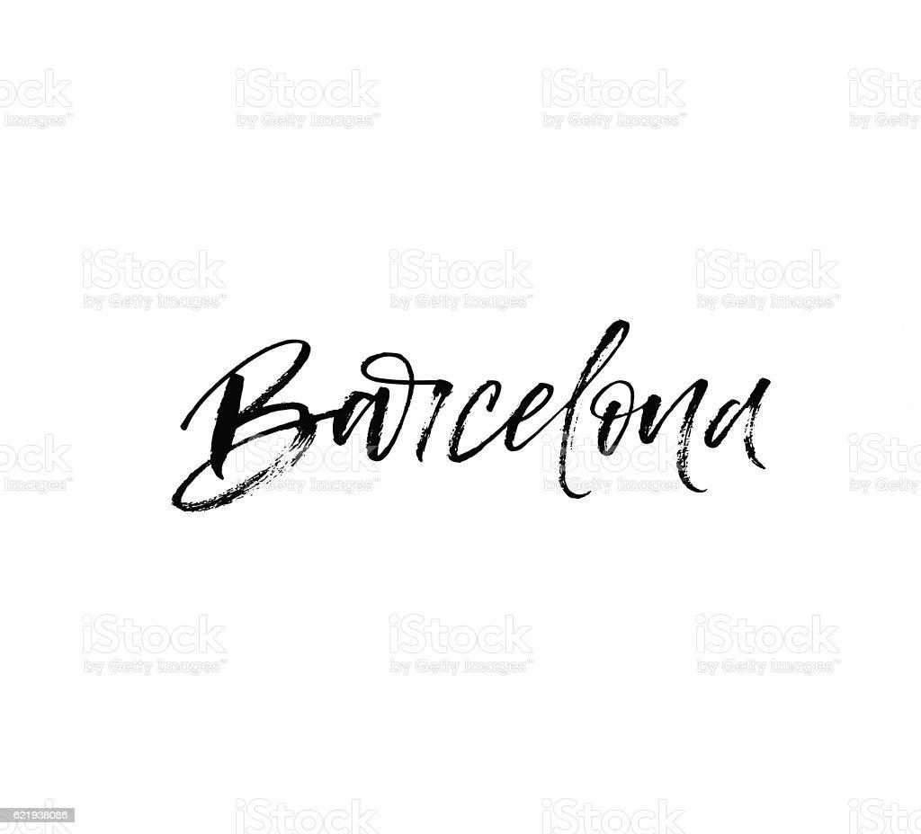 Hand lettering Barcelona. - ilustración de arte vectorial