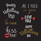 Hand Lettering Phrases on St. Valentine's Day