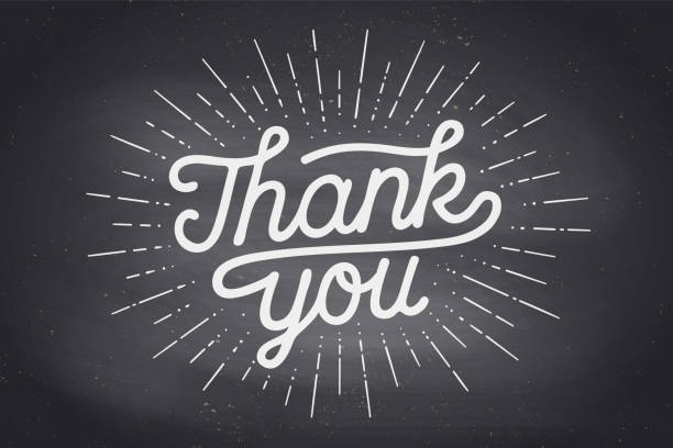 hand lettering thank you - thank you stock illustrations