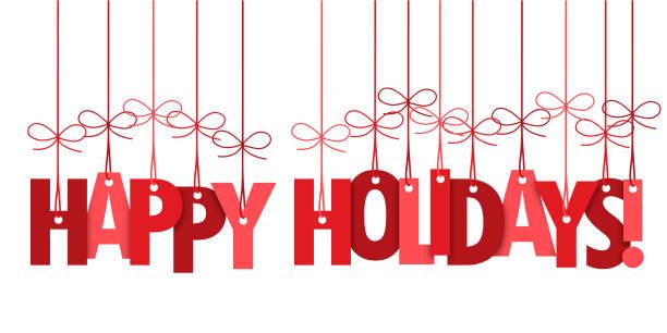快樂假期手寫排版橫幅 - happy holidays 幅插畫檔、美工圖案、卡通及圖標