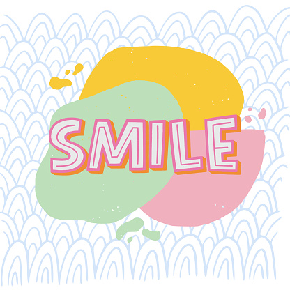 Hand lettering word Smile