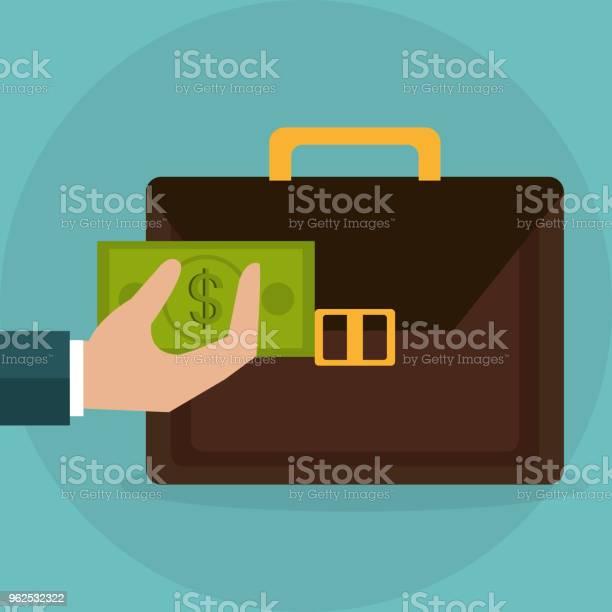 Vetores de Mão Levantamento Carteira Com Notas De Dólares Dinheiro e mais imagens de Antiguidades