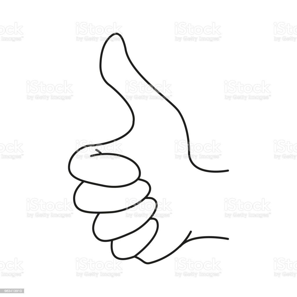 Main comme icône - clipart vectoriel de Abstrait libre de droits