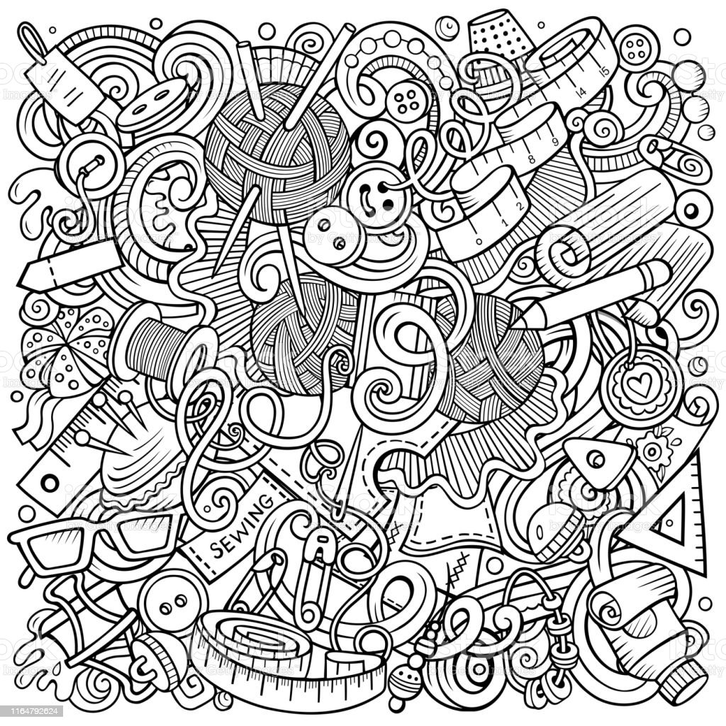 Hand Made hand drawn vector doodles illustration. Handmade poster...