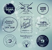 Hand Made Labels, Badges and Design Elements in Vintage Style