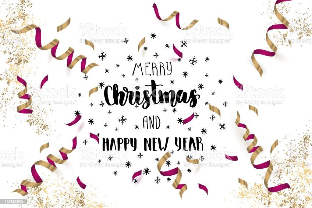 Ilustración De Hecho A Mano Letras La Frase Feliz Navidad Y