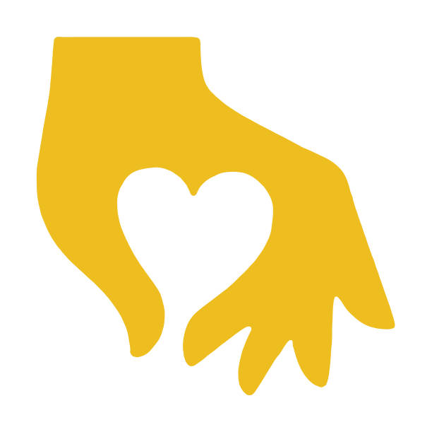 Hand Making Heart Hand Making Heart affectionate stock illustrations