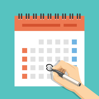 Holiday calendar stock illustrations