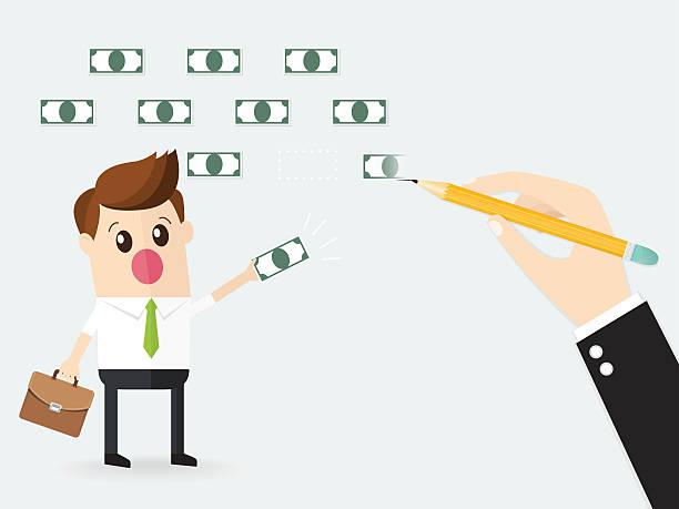 ilustrações, clipart, desenhos animados e ícones de hand of businessman using a pencil draw bank note doodle. - desenhos aleatórios e à mão livre