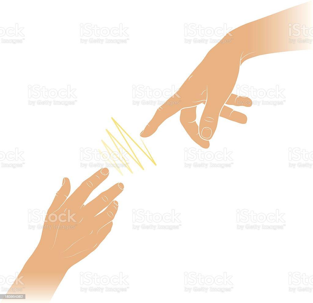 Hand of God royalty-free stock vector art