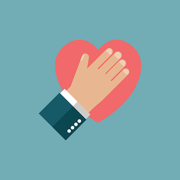 stockillustraties, clipart, cartoons en iconen met hand on heart - swearing