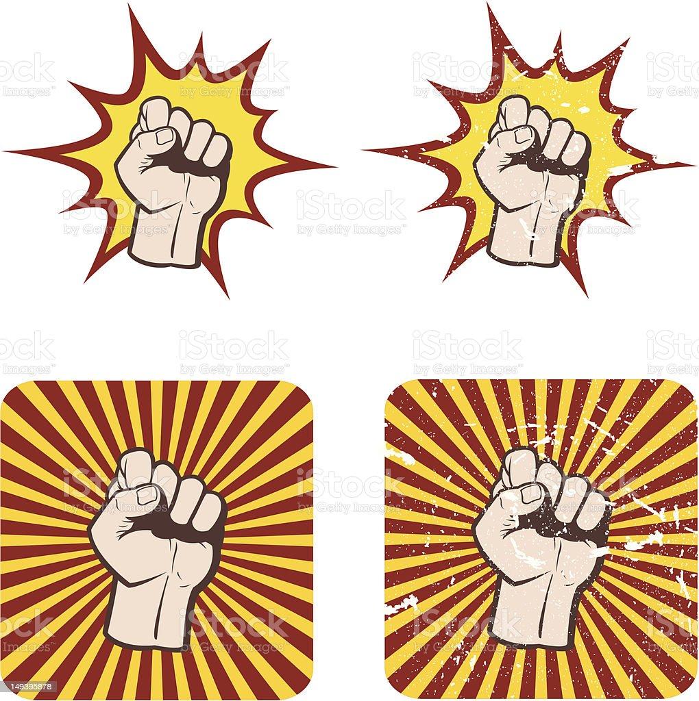 Hand O'Power royalty-free stock vector art