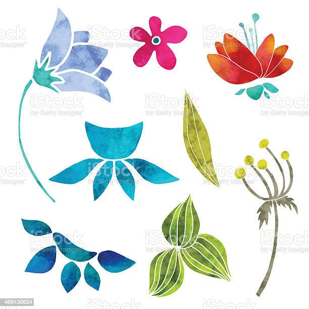 Hand painted floral watercolor set flowers and leaves vector id468430634?b=1&k=6&m=468430634&s=612x612&h=6kjptkhipva s0qdz8v9nzx0l6dadzocnn vhlferxa=