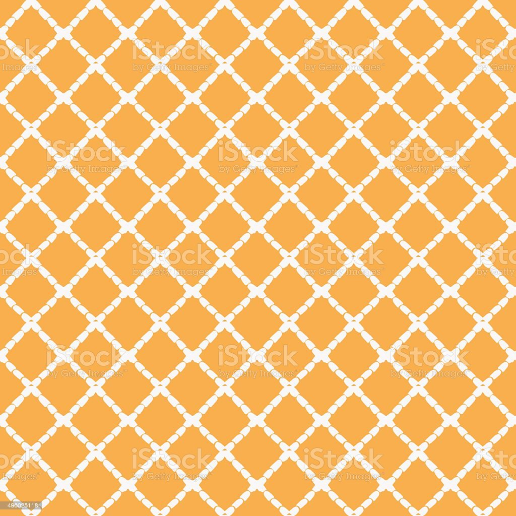 Hand painted geometric seamless pattern made of linear rhombus (diamonds) vector art illustration