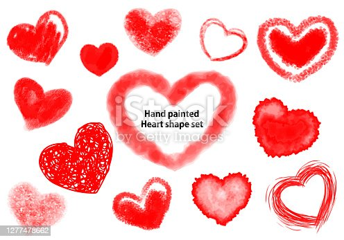Hand painted Heart shape illustratio, vector