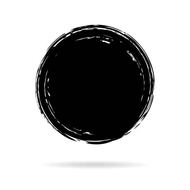 bildbanksillustrationer, clip art samt tecknat material och ikoner med hand målade bläck cirkel - buddhism