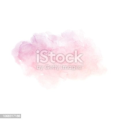 Hand painted purple and pink gradient vector texture isolated on the white background. Usable as a template for cards, invitations and more.