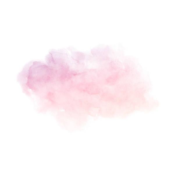 Peint à la main pourpre et rose dégradé texture aquarelle isoler - Illustration vectorielle