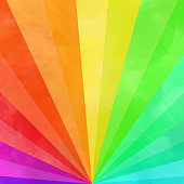 Hand Painted Watercolor Color Rainbow Rays Background. Hand Painted Watercolor Color Gradient Rainbow Background. Design Element.Useful to create surface effect for your design products such as background of greeting cards, architectural and decorative patterns. Trendy template inspiration for your design.