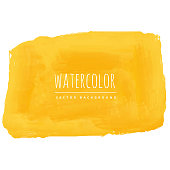 hand painted yellow watercolor texture background