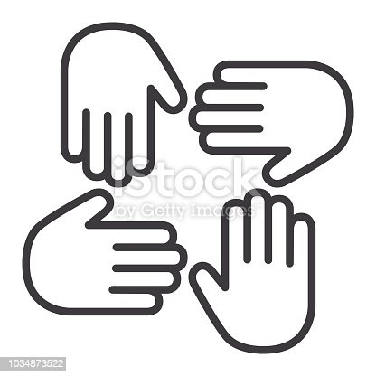 Vector of Hand palm Icon Togetherness Concept