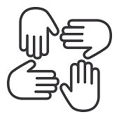 Hand palm Icon Togetherness Concept