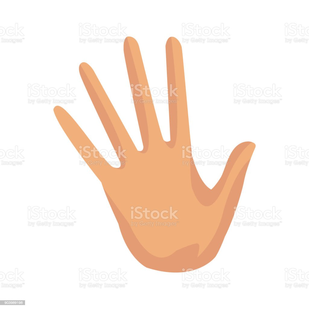 Hand Palm Stop Finger Five Symbol Stock Vector Art 903989196 Istock